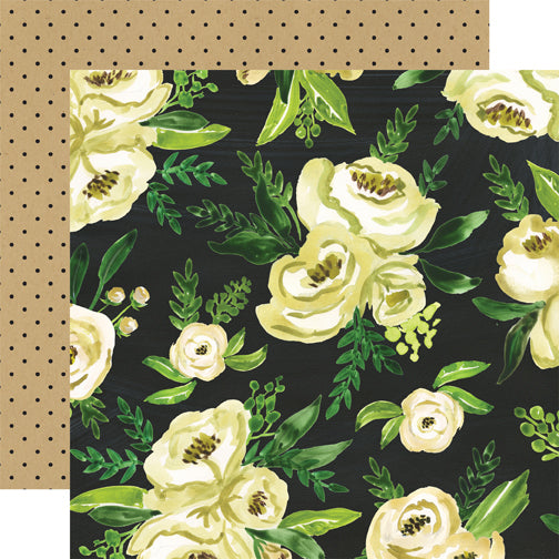 Carta Bella Papers - Botanical Garden - White Rose Bouquet - 2 Sheets