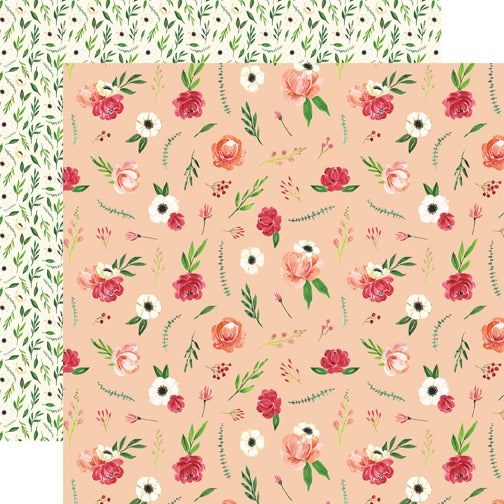 Carta Bella Papers - Botanical Garden - Poppy Bundle - 2 Sheets