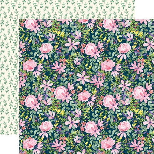Carta Bella Papers - Botanical Garden - Daisy Corsage - 2 Sheets