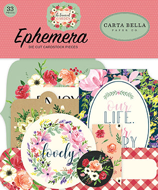 Carta Bella Ephemera Die-Cuts - Botanical Garden