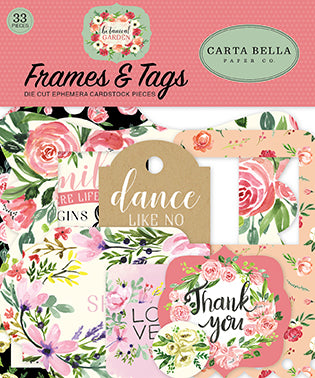 Carta Bella Frames & Tags Die-Cuts - Botanical Garden