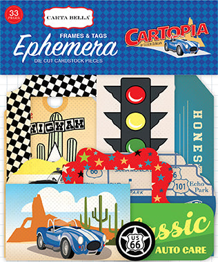 Carta Bella Ephemera Die-Cuts - Cartopia - Tags & Frames