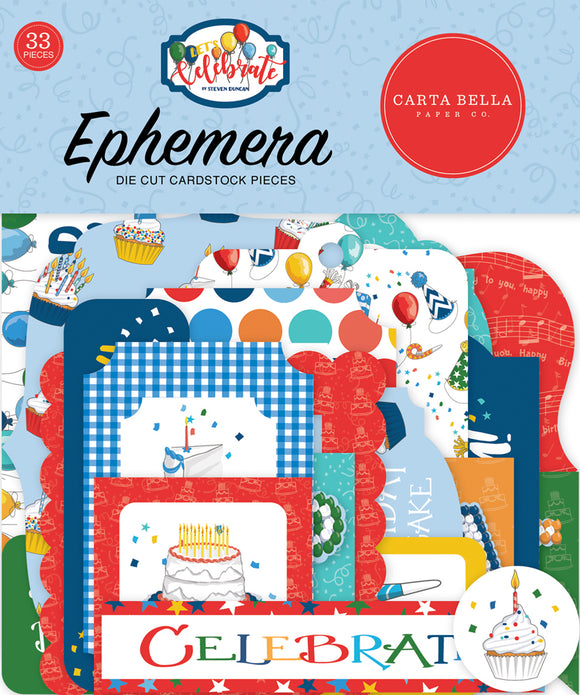 Carta Bella Ephemera Die-Cuts - Celebrate