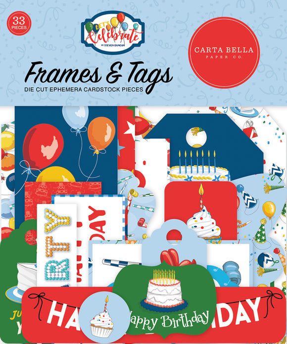 Carta Bella Frames & Tags Die-Cuts - Celebrate