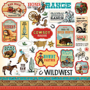 Carta Bella 12x12 Cardstock Stickers - Cowboy Country - Elements
