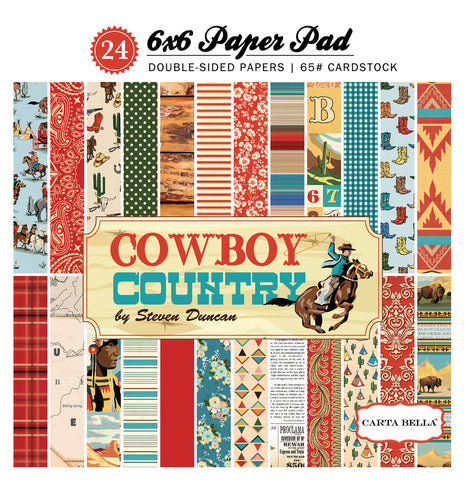 Carta Bella 6x6 Pad - Cowboy Country