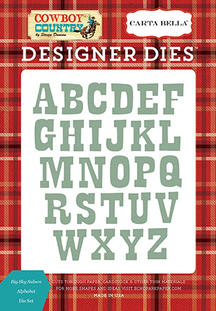Carta Bella Designer Dies - Cowboy Country - Big Sky Saloon Alphabet Die Set