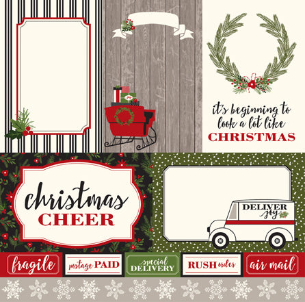 Carta Bella Cut-Outs - Christmas Delivery - 4x6 Journaling Cards