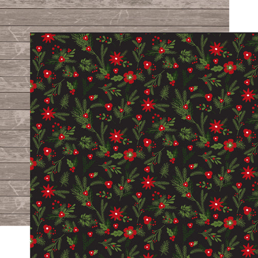 Carta Bella Papers - Christmas Delivery - Christmas Floral - 2 Sheets