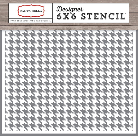 Carta Bella 6x6 Stencil - Christmas Delivery - Houndstooth
