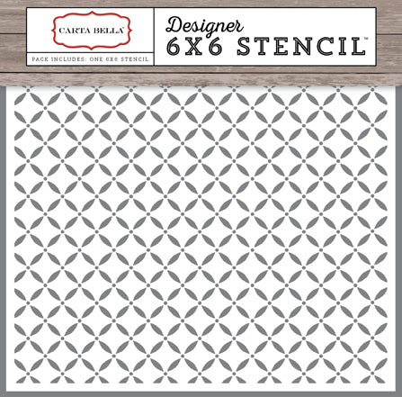 Carta Bella 6x6 Stencil - Christmas Delivery - Lattice