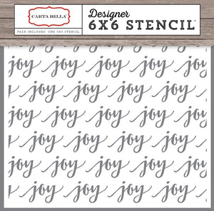Carta Bella 6x6 Stencil - Christmas Delivery - Joy