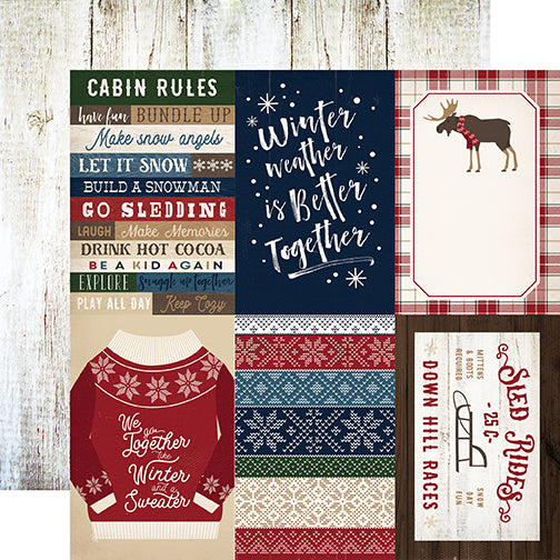 Carta Bella Cut-Outs - Cabin Fever - 4x6 Journaling Cards