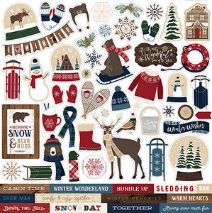 Carta Bella 12x12 Cardstock Stickers - Cabin Fever - Elements