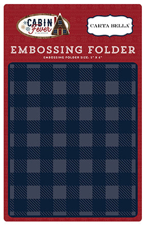 Carta Bella Embossing Folder - Cabin Fever - Small Buffalo Plaid