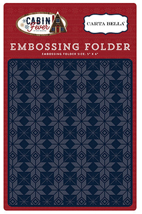 Carta Bella Embossing Folder - Cabin Fever - Fair Isle