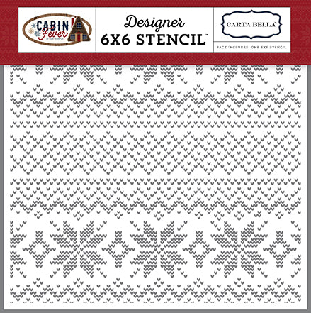 Carta Bella 6x6 Stencil - Cabin Fever - Sweater Weather