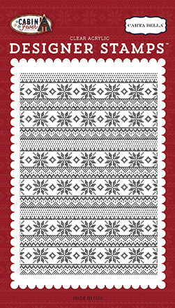 Carta Bella Background Stamp - Cabin Fever - Sweater Stamp