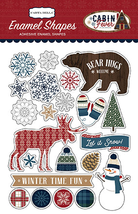 Carta Bella Enamel Stickers - Cabin Fever - Shapes