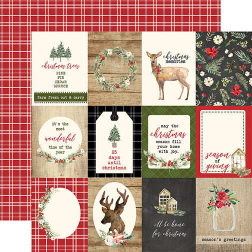 Carta Bella Cut-Outs - Christmas - 3x4 Journaling Cards