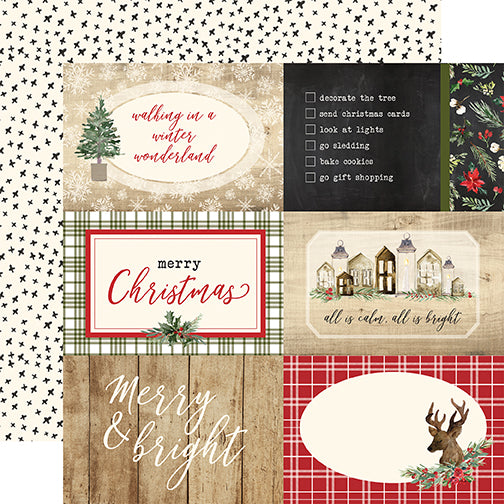 Carta Bella Cut-Outs - Christmas - 4x6 Journaling Cards