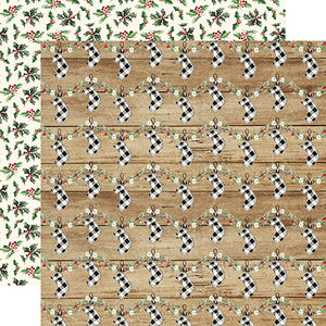 Carta Bella Papers - Christmas - Cheery Stockings - 2 Sheets