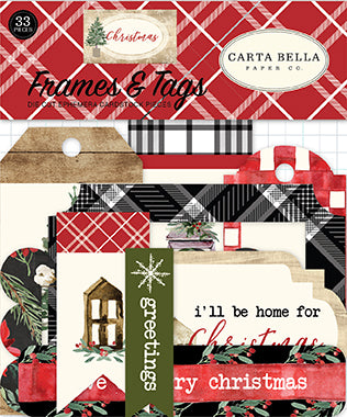 Carta Bella Frames & Tags Die-Cuts - Christmas