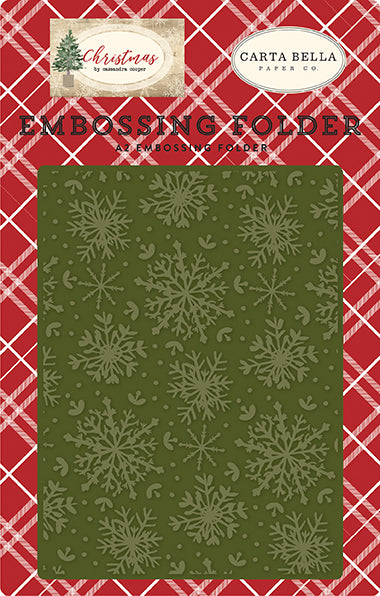Carta Bella Embossing Folder - Christmas - Jolly Snowflakes