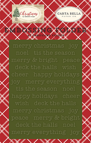 Carta Bella Embossing Folder - Christmas - Merry Christmas