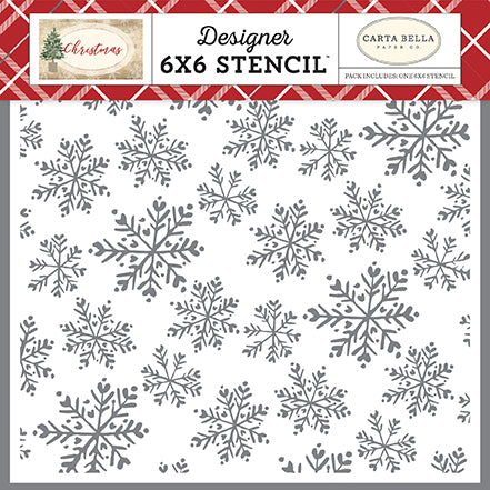 Carta Bella 6x6 Stencil - Christmas - Blanket of Snow