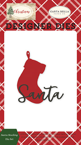Carta Bella Designer Dies - Christmas - Santa Stocking Die Set