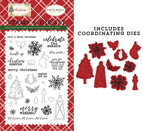 Carta Bella Die and Stamp Set - Christmas - Christmas Memories