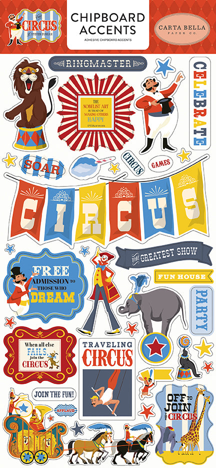 Carta Bella Chipboard - The Circus