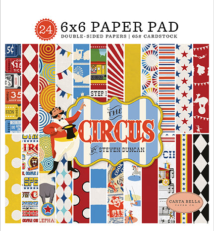 Carta Bella 6x6 Pad - The Circus