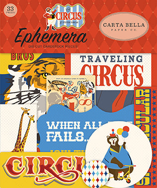 Carta Bella Ephemera Die-Cuts - The Circus