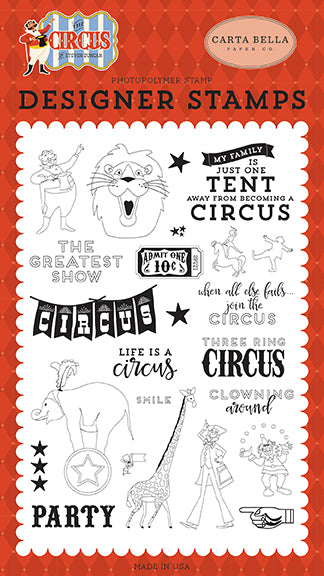 Carta Bella Clear Stamp Set - The Circus - The Greatest Show