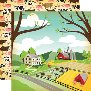 Carta Bella Papers - Country Kitchen - Farm Land - 2 Sheets
