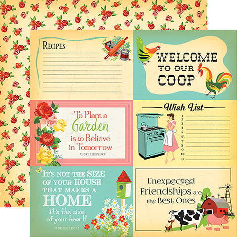 Carta Bella Cut-Outs - Country Kitchen - 4x6 Journaling Cards
