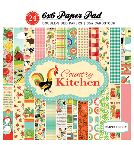 Carta Bella 6x6 Pad - Country Kitchen