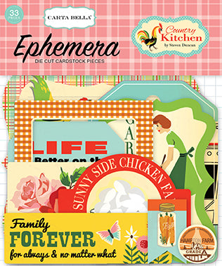 Carta Bella Ephemera Die-Cuts - Country Kitchen