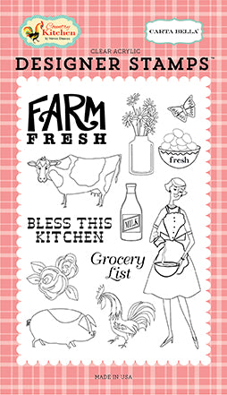 Carta Bella Clear Stamp Set - Country Kitchen - Farm Fresh