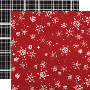 Carta Bella Papers - Christmas Market - Snowflakes - 2 Sheets