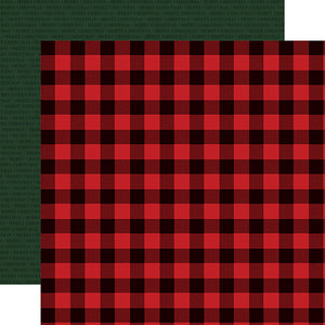 Carta Bella Papers - Christmas Market - Buffalo Plaid - 2 Sheets