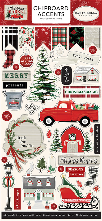 Carta Bella Chipboard - Christmas Market - Accents