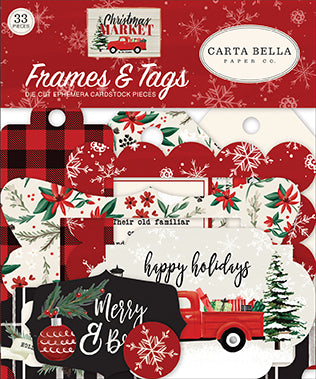 Carta Bella Frames & Tags Die-Cuts - Christmas Market