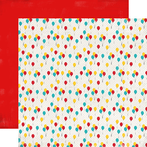 Carta Bella Papers - Circus Party - Party Balloons - 2 Sheets