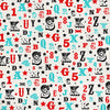 Carta Bella Papers - Circus Party - Letters and Numbers - 2 Sheets
