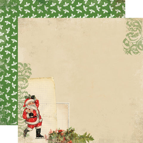 Carta Bella Papers - Christmas Time - Santa Claus- 2 Sheets