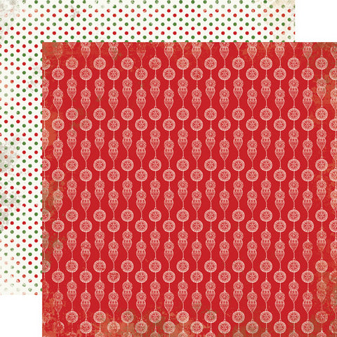 Carta Bella Papers - Christmas Time - Red Ornaments - 2 Sheets