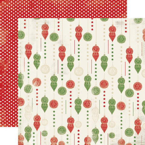 Carta Bella Papers - Christmas Time - Trim the Tree - 2 Sheets